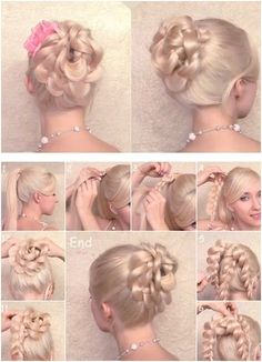 Braided Updo Hairstyles Tutorials for Prom