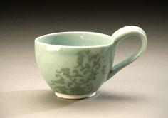 celadon Porcelain mug