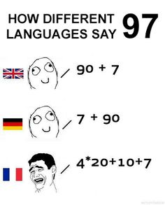 The French way of counting is, let's say… | 16 Times The French Language Was Just Too Much