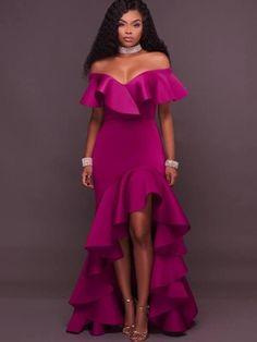 one shoulder uneven hem dress