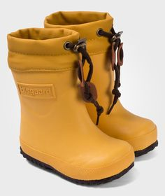 Rubber Boot Wool Yellow