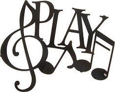Play & Music Notes Laser Cut Metal Wall Art
