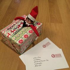 Elf on the shelf. Day 1 including letters from Father Christmas