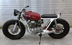 """CB 350K Tracker - Custom made 16"""" Harley Wheels with Firestone 5.00-16 Tyres Front and Rear"""