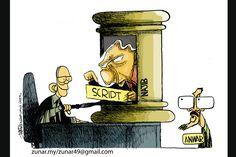 マレーシアの風刺画家、ナジブ首相を痛烈批判  マレーシアの漫画家ズナールことズルキフリー・アンワル・ウルハケ氏は辛辣(しんらつ)な政治風刺画で知られ、時に当局とも対立している。最新の一連の作品の中では、野党連合率いるアンワル元副首相が「同姓愛行為」をしたとして起訴された事件はナジブ首相の画策によるものだとして非難している。首相は事件への関与を一切否定している。