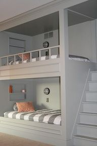 built in bunk beds - DIY #Home  Not very possible with our small space but so saving this for my own kids