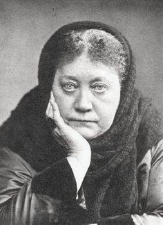 Madam Blavatsky, the clairvoyant founder of Theospophy.