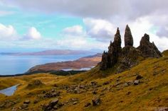 Picture of Old man of Storr Trotternish Peninsula Isle of Skye Scotland stock photo, images and stock photography. Old Man Pictures, England Ireland, Skye Scotland, Europe Destinations, Old Men, Monument Valley, Stock Photos, Islands, Traveling Europe
