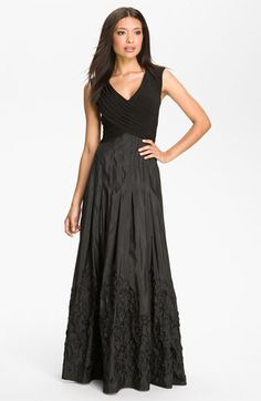 Patra V-Neck Soutache Mixed Media Gown available at #Nordstrom