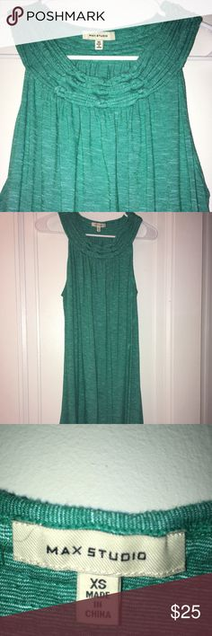 """Max Studio teal green sleeveless dress Fun, light Max Studio dress. Size small, somewhat roomy fit. Only worn a few times! Machine washable. I'm 5'6"""" and it hits just above the knee on me. Let me know if you need more info or photos! Max Studio Dresses Midi"""