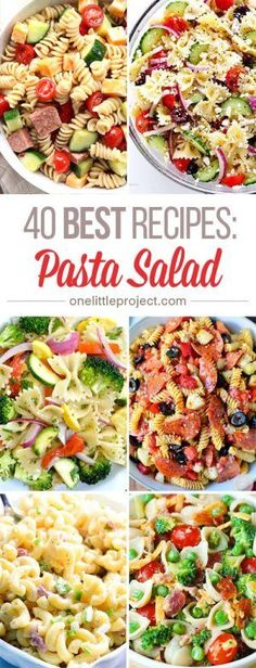 These pasta salad recipes look AMAZING! I had no idea there were so many different options, but they all look delicious! So great for a barbecue or potluck!