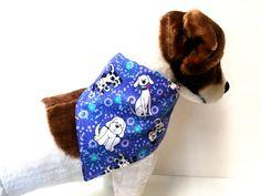 Reversible Dog BandanaPurple with Dogs Design by ELMEDO on Etsy, $9.00
