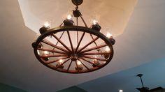 Custom made kitchen light fixture