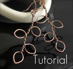 TUTORIAL Tree of Life Earrings Good basic idea. I can see wrapping green wire around the & or adding blossoms here and there. link is gone. Wire Wrapped Jewelry, Metal Jewelry, Beaded Jewelry, Jewlery, Women's Jewelry, Jewelry Ideas, Wire Tutorials, Jewelry Making Tutorials, Handmade Jewelry Tutorials