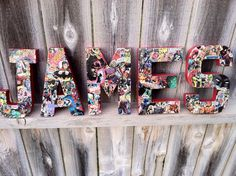 Custom Handmade Comic Book Superhero Letters, DC and Marvel, Child's Room Wall Decor, Teacher's Appreciation Gift, or Party Centerpiece