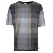 Paul Smith Men's Grey Oversized 'Block Check' T-Shirt