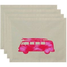 Simply Daisy 18 inch x 14 inch BeachDrive Geometric Print Placemat, Pink