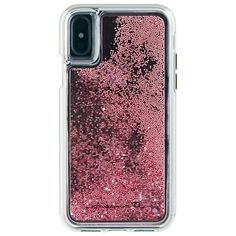 Case-Mate iPhone X Case - WATERFALL - Cascading Liquid Glitter - Protective Design for Apple iPhone 10 - Rose Gold