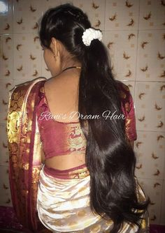 Long Hair Indian Girls, Indian Long Hair Braid, Long Hair Ponytail, Bun Hairstyles For Long Hair, Braids For Long Hair, Indian Hairstyles, Girl Hairstyles, Long Silky Hair, Long Black Hair