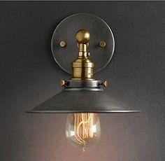 Purelume Retro Vintage Blurred Lampe Wandleuchte inkl. 40W Edison Glühbirne