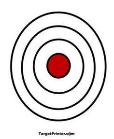 bullseye template printable - printable target large bullseye gun shooting range