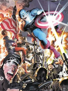 Captain America - Pencils/ink by Jack Kirby and Colors by Alex Ross