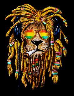 This is the best art piece I've ever seen! Rasta Art, Rasta Lion, Reggae Art, Lion Wallpaper, Stoner Art, Weed Art, Lion Art, Hippie Art, Street Art