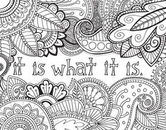 "Brighten your day and your walls with these positive phrases like ""Make today great"" and ""Shine on!"" This zentangle-inspired coloring book for adults ..."