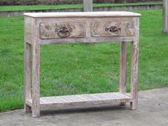 Console Table Made From Reclaimed Teak - A4323 - Indigo Asian Antiques & Interiors UK