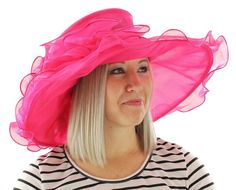 Melanie Packable Organza Kentucky Derby Church Sun Wide Brim Tea Party Hat (Ivory) at Amazon Women's Clothing store: