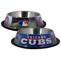 Chicago Cubs Stainless Steel Pet Bowl $19.95