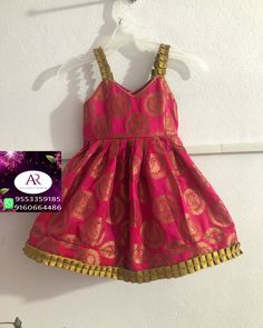 Girls Frock Design, Kids Frocks Design, Baby Frocks Designs, Baby Dress Design, Baby Girl Frocks, Frocks For Girls, Dresses Kids Girl, Kids Outfits Girls, Kids Dress Wear