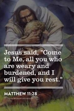 When you are weary, Jesus can give you rest. Prayer Quotes, Bible Verses Quotes, Jesus Quotes, Bible Scriptures, Jesus Sayings, Religious Quotes, Spiritual Quotes, Image Jesus, Favorite Bible Verses