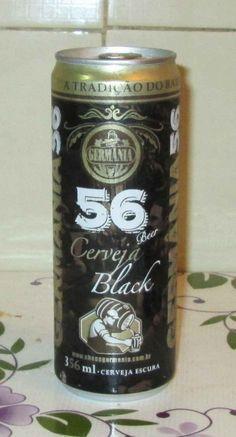 Cerveja GERMÂNIA 56 BLACK, estilo Dark American Lager, produzida por Cervejaria Germânia, Brasil. 4.5% ABV de álcool.