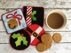 Make It Merry Holiday Coasters • WeAllSew • BERNINA USA's blog, WeAllSew, offers fun project ideas, patterns, video tutorials and sewing tips for sewers and crafters of all ages and skill levels.