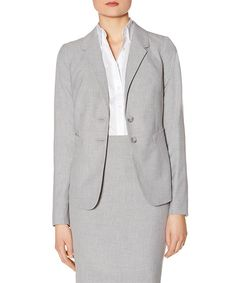 Light Gray Collection Two-Button Jacket