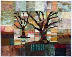 Live Oaks 4 by Lou Ann Smith Line Design, Painting, Fabric Art, Artwork, Pictures, Artsy, Textile Art, Abstract