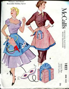 McCall's 1822 reversible holiday apron
