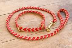 """Halsband & Leine Springtime""""  kl. bis mittl. Hunde von TexAs Design auf DaWanda.com"""