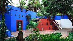 La Casa Azul, painters Frida Kahlo and Diego Rivera's former home, Mexico City, Mexico.
