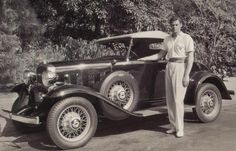 Johnny Weissmuller with his 1932 Chevrolet - the best 'Tarzan' ever!