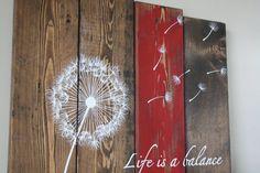 Reclaimed wood wall art Life is a balance von TinHatDesigns
