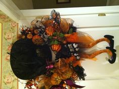 The witch crashed! :)  ~ Halloween wreath