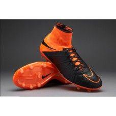 wholesale dealer 8f8b5 fbe9b Tech Craft Nike Hypervenom Phantom II Cuero FG Negro Naranja zapatillas de fútbol  baratas Futbol,