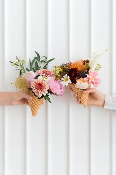 My new social Project Pink Gerbera, Pink Carnations, Beautiful Flower Arrangements, Beautiful Flowers, Ice Cream Flower, Rose In Hand, Flower Background Design, Bunny Painting, Holding Flowers