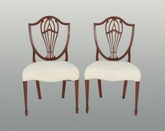 Pair of English side chairs. by RYeakelCollection on Etsy, $1500.00