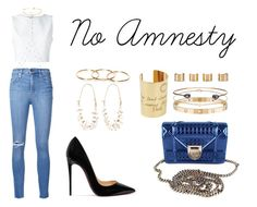 """""""No Amnesty"""" by anaelle2 ❤ liked on Polyvore featuring Christian Louboutin, Nobody Denim, Christian Dior, Alice + Olivia, Arme De L'Amour, Cartier, Minor Obsessions, Dezso by Sara Beltrán, Isabel Marant and Maison Margiela"""