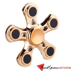 Fidget Spinner, 5 Legs Metal Hand Spinner Toy Torqbar Desk Toy EDC Sensory for Autism and ADHD Kids/Adult Funny Anti Stress Toy