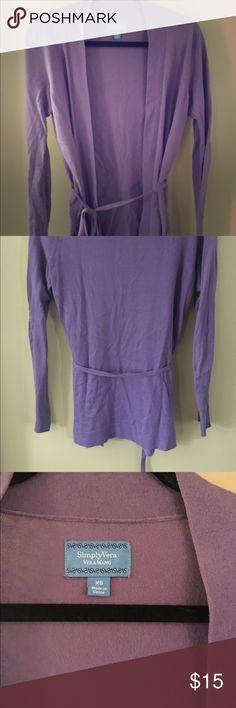 Simply Vera sweater Lightweight Simply Vera Vera Wang tie-waist cardigan. Simply Vera Vera Wang Sweaters Cardigans