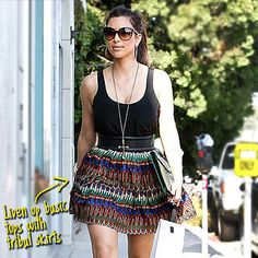 Nicole Scherzinger working a tribal influenced skirt!